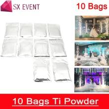 10bags/lot Outdoor Indoor Cold Spark Sparkler Pyro Pyrotechnics Fireworks Machine Metal Titanium Powder