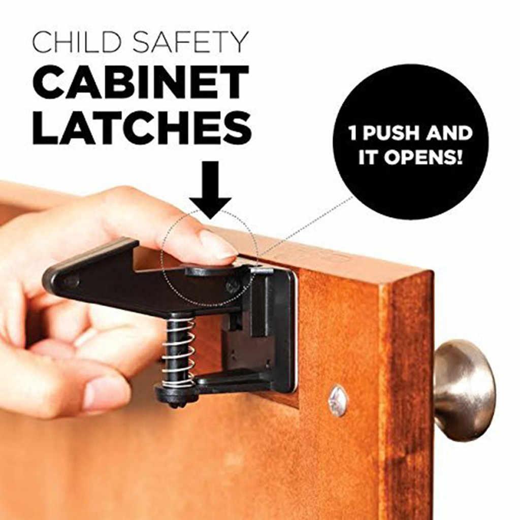 12 pièces armoire serrure enfant sécurité bébé Protection des enfants coffre-fort serrures bébé sécurité tiroir loquets pour réfrigérateurs 529
