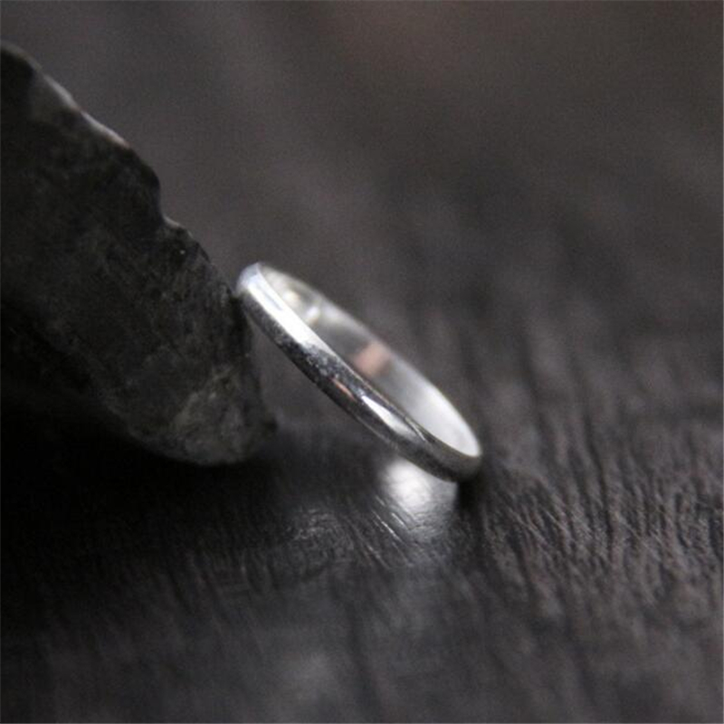 Original Design 925 Sterling Silver Stackable Finger Ring For Women S925 Jewelry 1.70mm Wide 0.76g