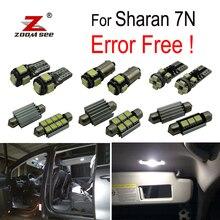 17 pcs HA CONDOTTO LA licenza di illuminazione della targa + Decoder per Volkswagen per Sharan 7N (2011-2018) HA CONDOTTO LA lampadina luce interna kit completo pacchetto