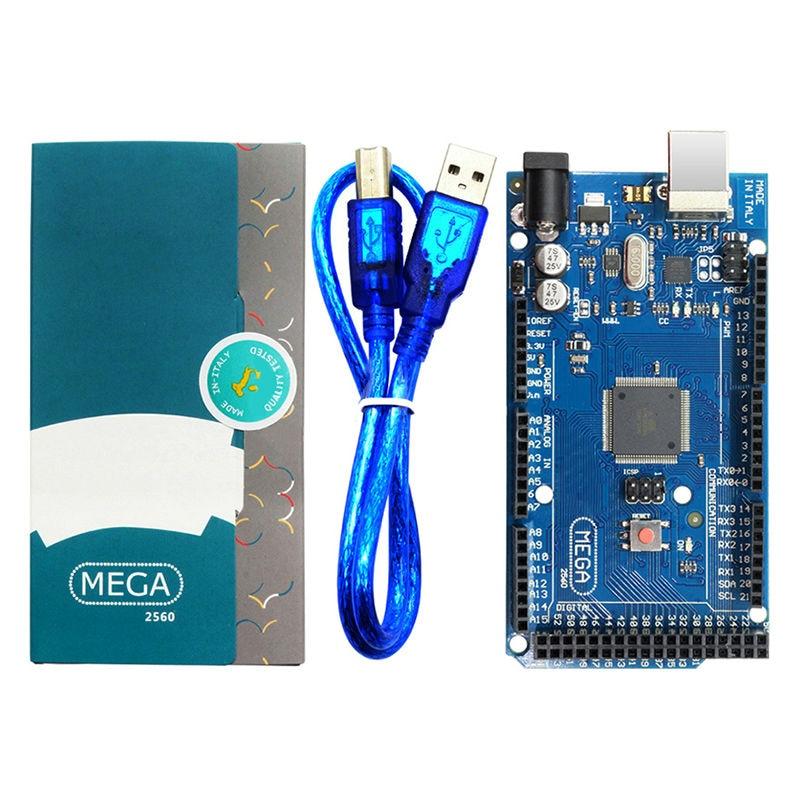 10Pcs lot Mega 2560 R3 Board with USB Cable ATMega 2560 ATMega16U2 Chip for Arduino Integrated
