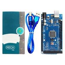 10 adet/grup Mega 2560 R3 kurulu USB kablosu, ATMega 2560 ATMega16U2 çip Arduino için entegre sürücü ile perakende kutusu
