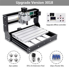 CNC 3018 Pro GRBL Diy mini cnc machine 3 Axis pcb Milling machine,Wood Router laser engraving CNC 3018 Can work offline 2019 New disassembled pack mini cnc 3018 pro 500mw laser cnc engraving wood carving machine mini cnc router with grbl control l10010