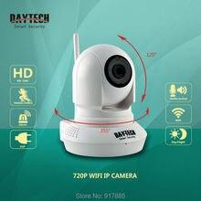 Daytech WiFi IP Cámara de Seguridad Inicio Cámara Wi-Fi de Dos Vías de Intercomunicación 720 P de Visión Nocturna Cámara de Vigilancia CCTV Pan Tilt DT-C8819