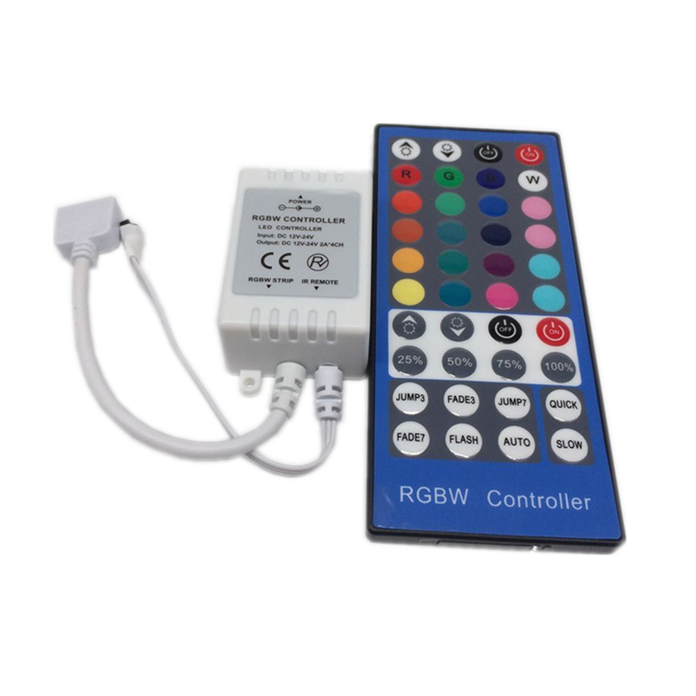 Купить с кэшбэком 10 Pcs 2.4G 4 Channels DC12V - 24V LED RGBW Controller Dimmer 40 Keys Remote Control For RGBW RGBWW 5050 SMD LED Strip light