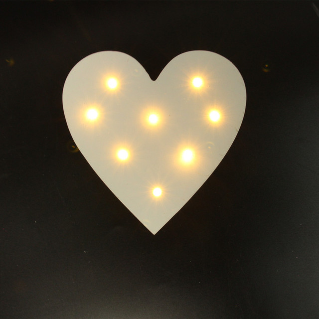 Mini White Wooden Heart Shape Light Led Marquee Light Sign Led Light Valentine S Gift Indoor Dorm Shape Lighting Marquee Lightled Marquee Lights Aliexpress