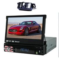 EinCar In Dash Single DIN 7 inch Motorized Flip Up Touchscreen Car DVD/CD/USB/SD/MP4/MP3 Player GPS Navigation DVD Player Blueto