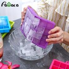 24 кубика лотка для льда квадратная силиконовая форма для льда лоток для льда морозильная камера легко снимается ледяное желе пудинг производитель плесень бар кухонный инструмент