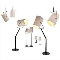 Art Deco Foscarini Fork Lamp R7S Ivory Black Cloth Fabric Pendant Light Lamp Bedroom Fabric Hanging Light White Cloth lighting