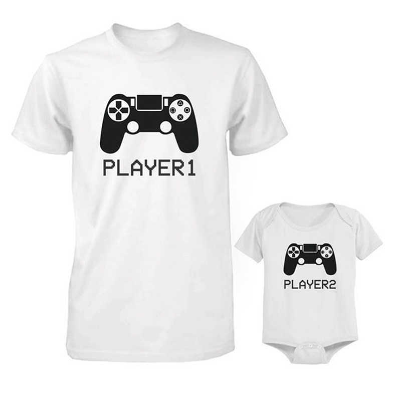 ec5bfb3b One Piece Daddy And Baby Matching White T-shirt Funny Print Tee Top Baby  Bodysuits