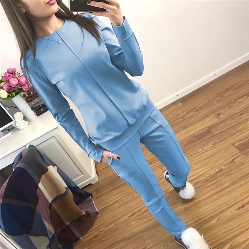 Liva Fille nouvelle mode Russie style Automne Survêtement Femmes Hoodies de Femmes 2-pièces t-shirts + Pantalon Long) loisirs Costumes
