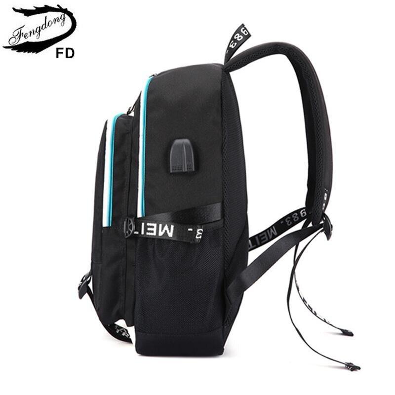 תרמילים - FengDong men minimalist waterproof travel laptop backpack ... d8529c37b7b42