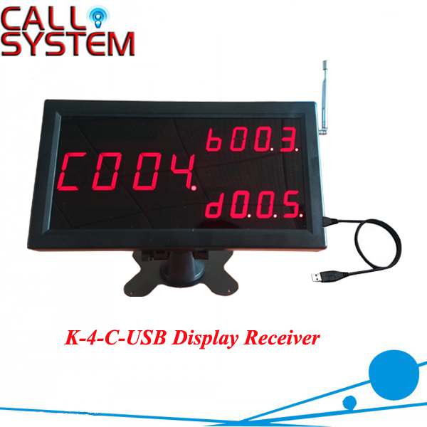 Best Price Number calling dispaly receiver Counter Monitor connect to PC show calling information best price 5pin cable for outdoor printer