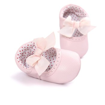 2019 Newborn Baby Moccasin Shoes Soft Bottom PU Leather Toddler First Walkers 1