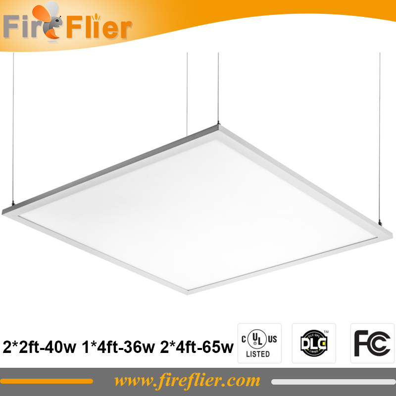 4pcs/lot 40w UL led panel light 36w 40w 600*600mm led ceiling down light surface mounted rectangle office lamp suspend 65w DLC