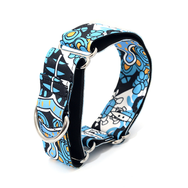 New Fabric Super Strong Durable Reef Martingale Dog Collars Greyhounds Dog Collar  2.5cm to 3.8cm Wide Necklaces