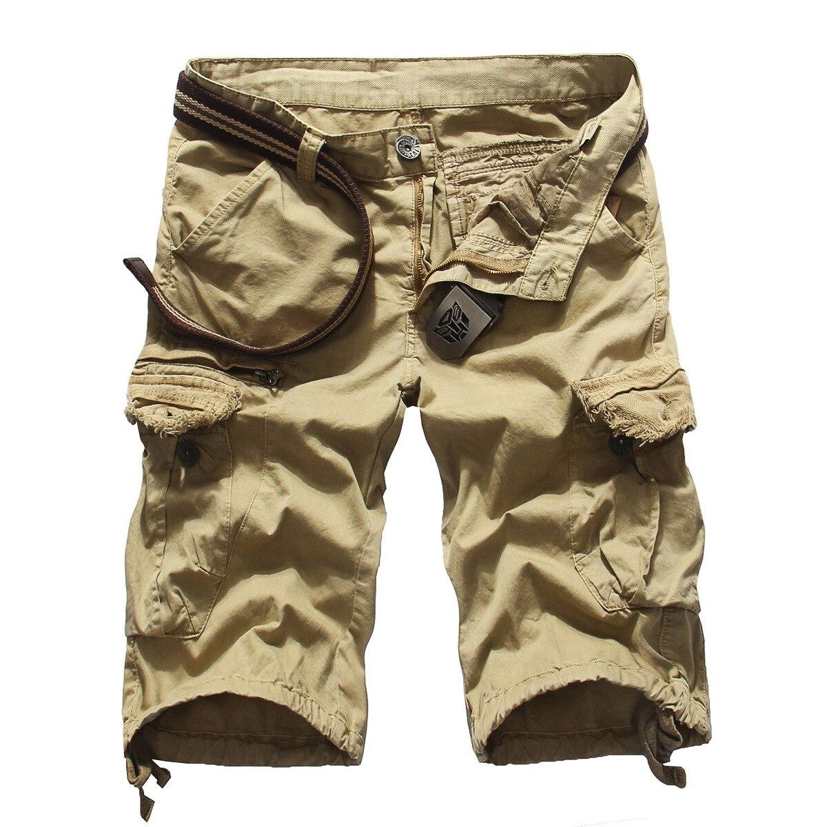 Cargo Shorts Men New Arrival Fashion Men Cargo Shorts Straight Loose Fashion Cotton Mans Short Casual Trousers Bottoms Plus Size