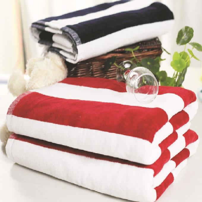 70140 cm di lusso a righe di cotone asciugamani da bagno per adulti