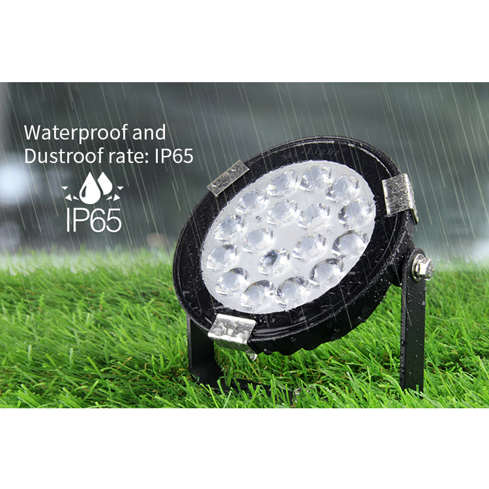 Mi Light RGB CCT Waterproof LED Garden Light 9W led lamp DC 24V 110V 220V Dustproof Outdoor Pond path flood spot Landscape Light dc12v 24v led lawn lamps landscape light 9w 110v 220v waterproof outdoor garden light warm white spike led path lights