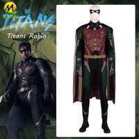 DC Film Titans Robin Cosplay Kostüm Nightwing Superhero Robin Cosplay Voller Anzug Halloween Kostüme Für Männer