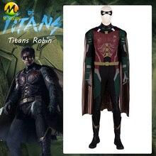 DC 映画タイタンズ衣装ナイトウィングスーパーヒーローロビンコスプレフルスーツハロウィンコスチューム