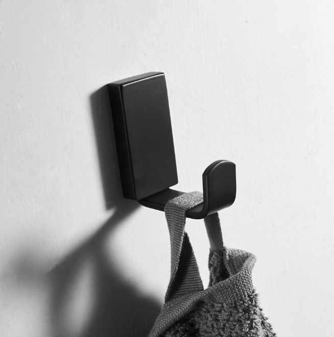 Ze stali nierdzewnej SUS 304 czarny Robe haki hak ścienny wieszak na ubrania haki na ręczniki płaszcz drzwi haki łazienka akcesoria