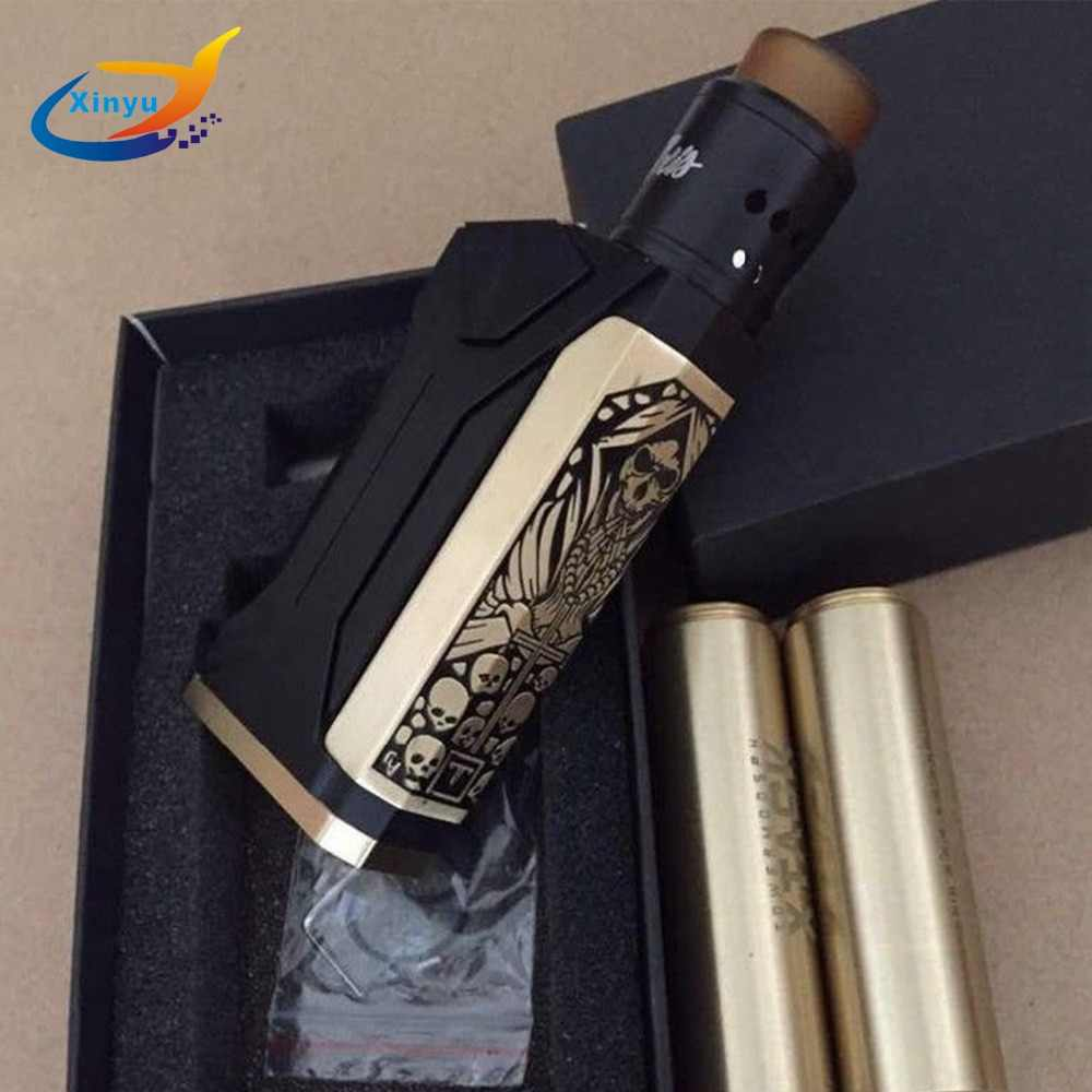 Newest arrive Tower tube mod V2 kit Mechanical Double 18650 Battery 510Thread Mech MOD For VAPE Vaporizer RDA RTA TANK Atomizer