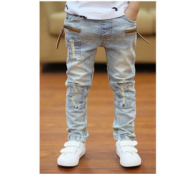 A Retail High quality spring kids pants boys girls baby jeans children jeans for boys casual denim pants 3-13Y toddler clothing