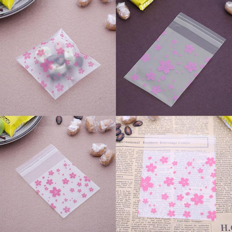 100 x Self Adhesive Baking OPP Packaging Bag Cookie Candy Package Gift Bags