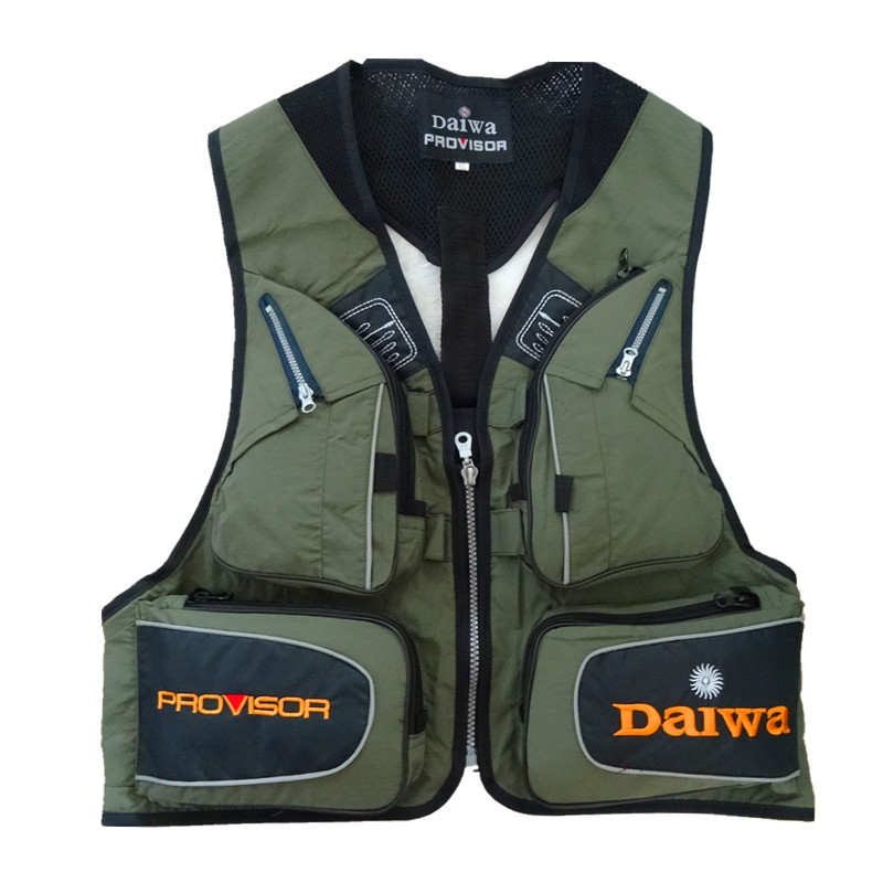Black Fly Fishing Vest Outdoor Sleeveless Jackets Camping Photography Vests with Mulit-pocket Clothes for