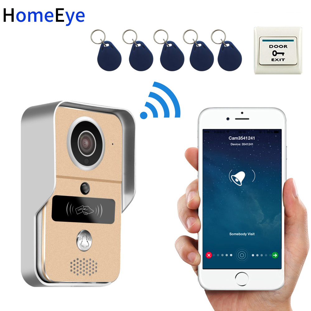 HomeEye Wireless Video Intercom IP Wifi Door Phone Smart Doorbell Waterproof Support Motion Detection PIR Alarm+RFID Card +POE