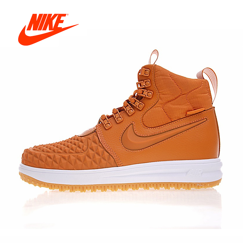 Original New Arrival Authentic Nike Lunar Force 1 Duckboot 17 Men's Skateboarding Shoes Sport Sneakers Good Quality 922807 702