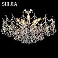 Hot Selling Modern Crystal Chandelier Light Fixture Chrome Finish 4 Kinds Of Size Guaranteed 100 Free