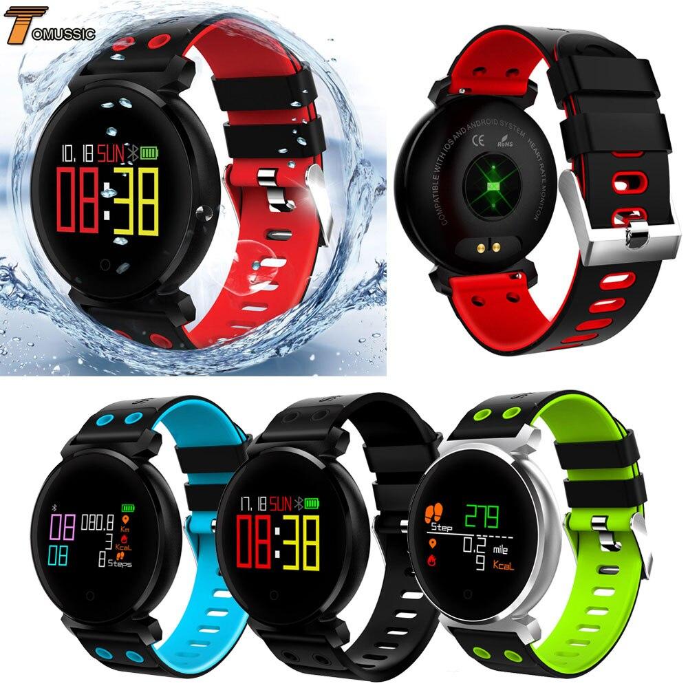 TOMUSSIC K2 Smart Uhr Sport Bluetooth Smart Armband Blutdruck Herzfrequenz Smart Uhr Wasserdichte Fitness Tracker Band