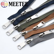 1Pc Silver Teeth 5# 120cm Double Sliders Metal Zipper For Sewing Open-end Zippers Jackets Coat DIY Garment Accessories A3-8