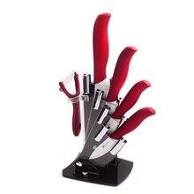 Keramik Messer 6 Zoll Chef 5 Zoll Schneiden 4 Zoll Utility 3 Zoll Schäl Küchenmesser Ein Peeler + Ein Messer Block Zubehör Set