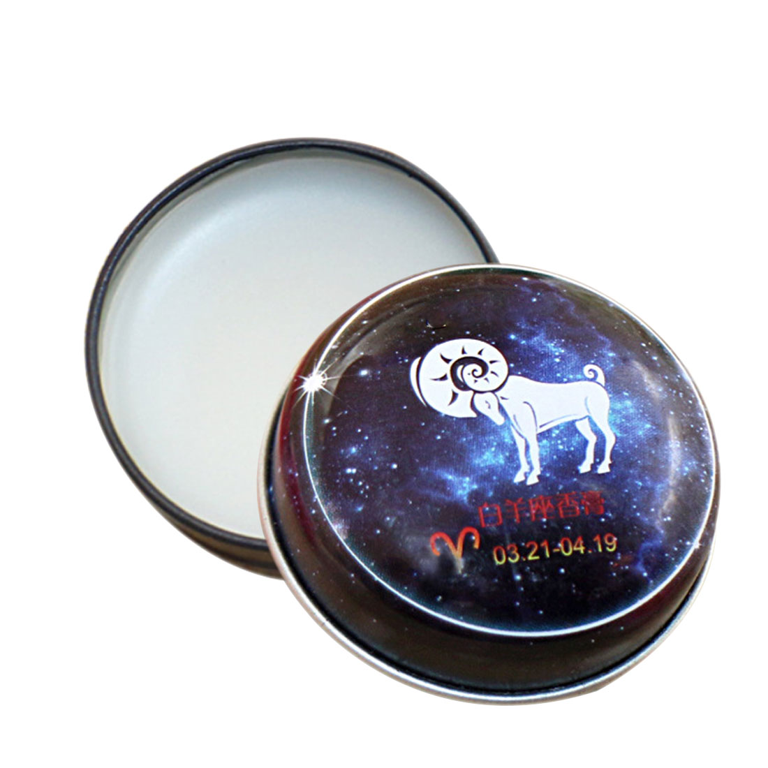 TOP Sale 1 PC Unisex Magic Zodiac Fragrance 12 Signs Constellation Deodorant Perfumed Solid Portable Tin Box Balm