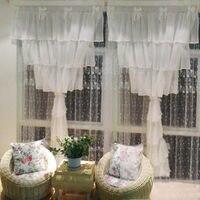 2 шт. шифоновые занавески x 220 см 150 Роскошные cortina спальня окна шторы для гостиная Свадебные декоративные торт слоев сладкий лук