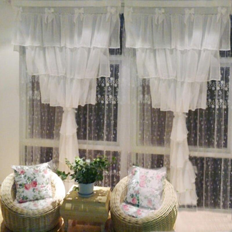 2 pièces 150x220 cm rideaux en mousseline de soie luxe cortina chambre fenêtre rideaux pour salon mariage décoratif gâteau couches doux arc