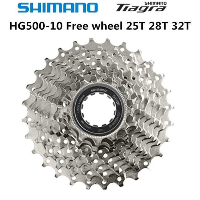 SHIMANO piñón de Cassette para bicicleta de carretera Tiagra HG500 10, Piñón de Cassette de 10 velocidades, ruedas libres, Cogs 11 25 12 28 11 32T 11 34T 4700 4600 M6000 5700