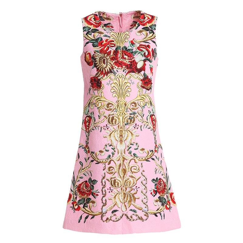 Multi Coton Impression Nouveau Brillait Et Youe Épais Jacquard Européen Gilet Américain Perle Automne Style Nouvelle Robes Femmes 2018 De xqOwUaO
