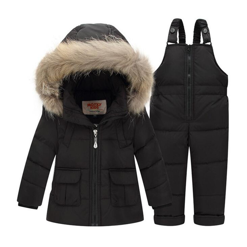 f2227d949 Russian Winter Warm Children Clothing Set 90% White Duck Down Boys ...