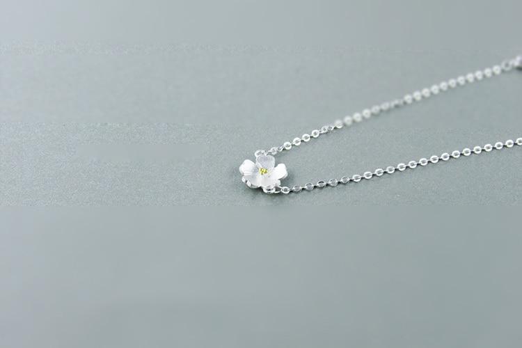 AKOLION Silver Cherry Blossoms Bracelets Charm Flower Bracelets 925 Sterling Jewelry For Girl Women 5