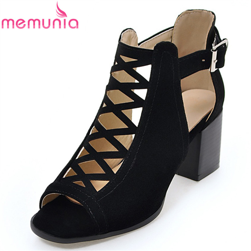 MEMUNIA 2018 new arrive women high heels sandals fashion buckle cover heel summer shoes sexy ladies prom shoes big size 34-43 sexemara extreme high heel sandals fish mouth women sandals 2017 new large size 33 43 summer fashion sexy buckle ladies sandals