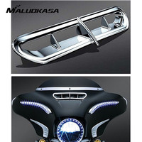 MALUOKASA Motorcycle Front Upper Outer Fairing Vent Accent For Harley 14 16 Touring Electra Street Glide