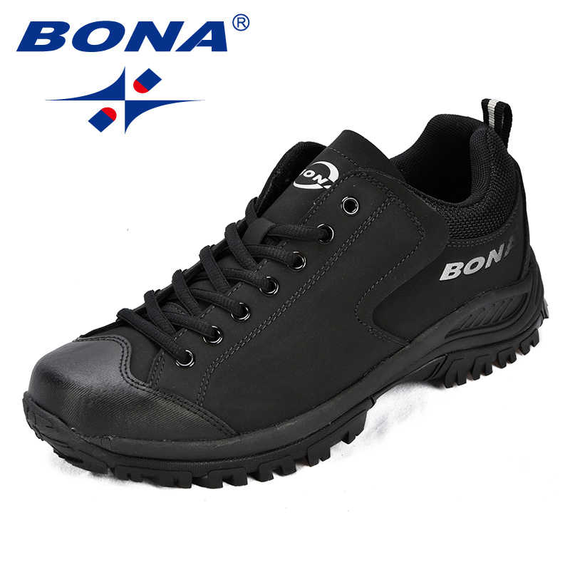 BONA New Arrival Classics Style Men Hiking Shoes Action Leather Men Athletic Shoes Outdoor Jogging Shoes Comfortable Sneakers