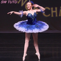 Royal Blue Ballet Tutu Light Pink Swan Lake Ballet Costumes Tutu For Girls Professional Classical Ballet