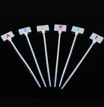 2.5*100mm 100pcs zip ties  Write On Ethernet RJ45 RJ12 Wire Power Cable Label Mark Tags nylon cable ties
