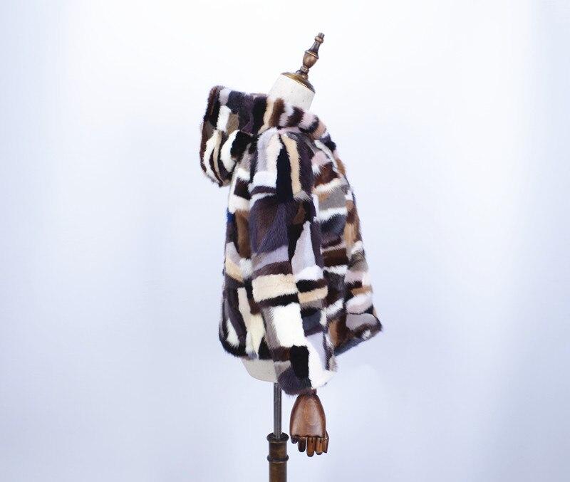 01 Chaud Hiver Courte 2018 Avec Mode Couleur 02 Longues De Bonnet Vison Manches Naturel Femmes Épaississement Manteau Fourrure aw0p6xw5
