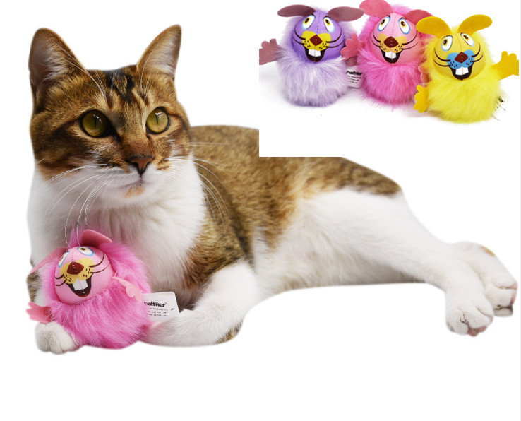 usd1 1pc cat kitten toys mouse long hair catnip sound toy for pet cat colorful mouse